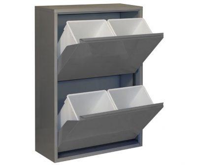 Cubos afvalbak met 4 compartimenten