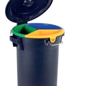 afvalbak met 3 binnenemmers