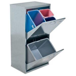 Afvalbak met meerdere compartimenten