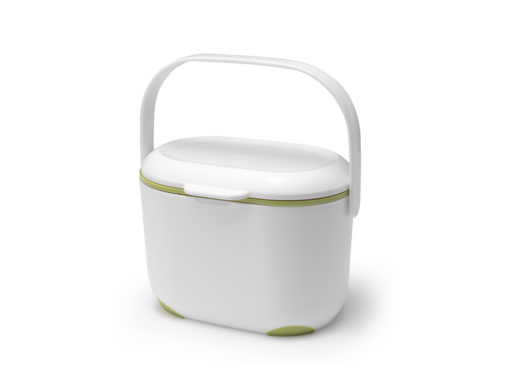 compost caddy wit/ groen
