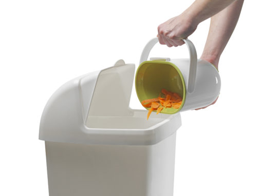 Compost Caddy wit / groen