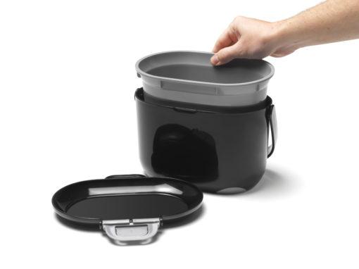 Compost Caddy zwart / grijs