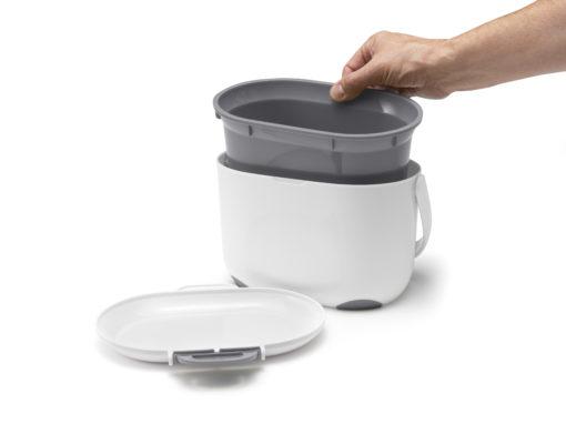 compost caddy wit / grijs