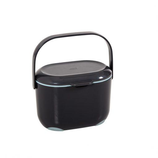 Compost Caddy grijs / aqua