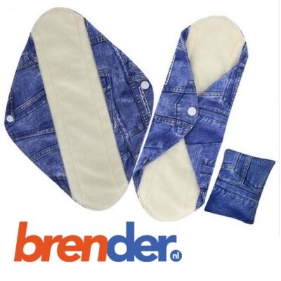 herbruikbaar wasbaar inlegkruisje jeans